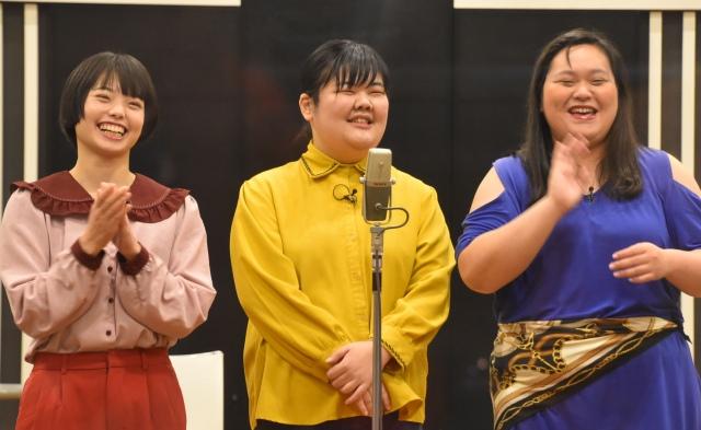 現在は3人で活動中のぼる塾(左から、きりやはるか、あんり、田辺智加) (C)ORICON NewS inc.の画像