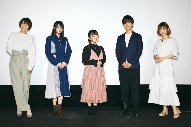 テレビアニメ『IDOLY PRIDE-アイドリープライド-』の最終話先行試写会に出席した(左から)豊崎愛生、橘美來、菅野真衣、石谷春貴、神田沙也加の画像