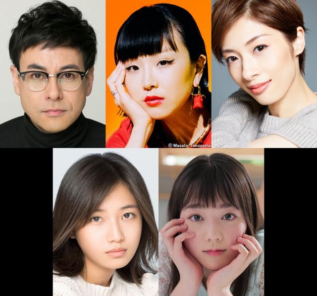 『コントが始まる』に出演が決定した(上段左から)鈴木浩介、松田ゆう姫、明日海りお、(下段左から)小野莉奈、米倉れいあの画像