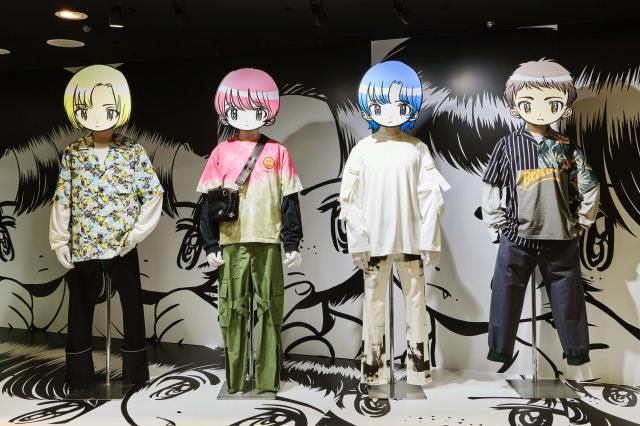 阪急メンズのエントランス・デコレーション(写真・松下二郎)の画像