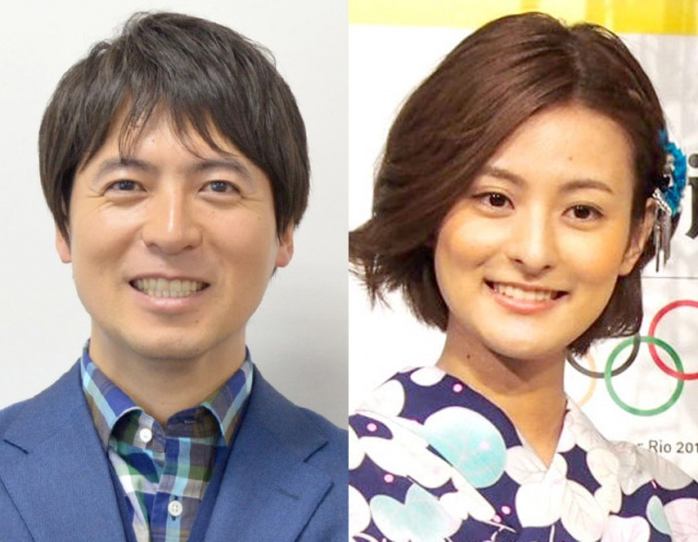 (左から)桝太一アナ、徳島えりかアナ (C)ORICON NewS inc.の画像