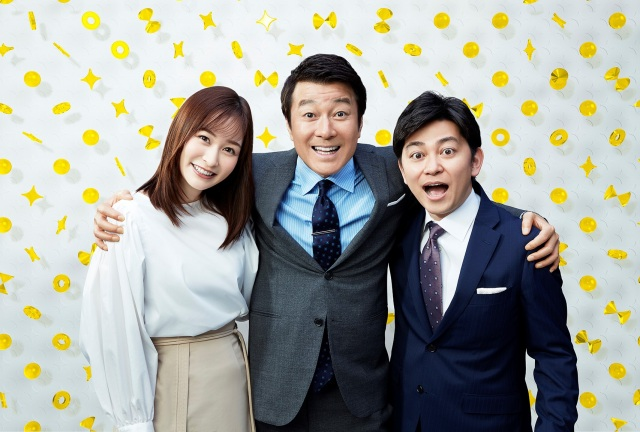 『スッキリ』がリニューアル MCを務める岩田絵里奈アナ、加藤浩次、森圭介アナ (C)日本テレビの画像