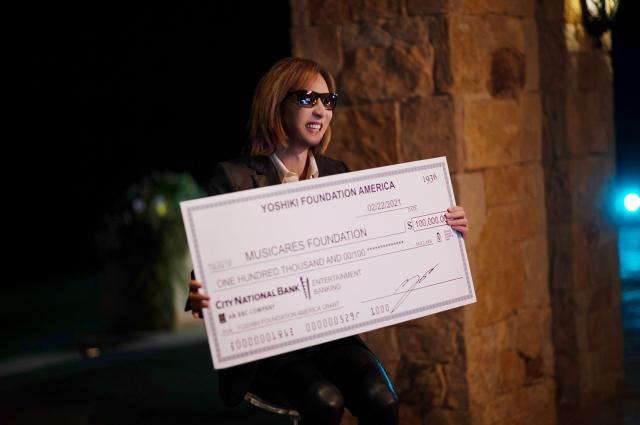 音楽チャリティ団体『MusiCares』へ10万ドル(約1,000万円)を寄付したYOSHIKIの画像