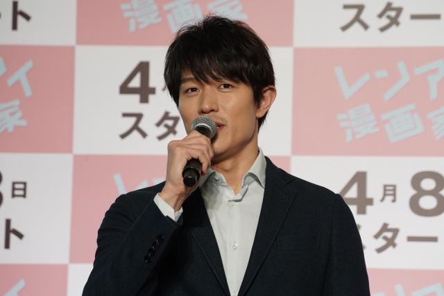 『レンアイ漫画家』の記者会見に出席した鈴木亮平(C)フジテレビの画像