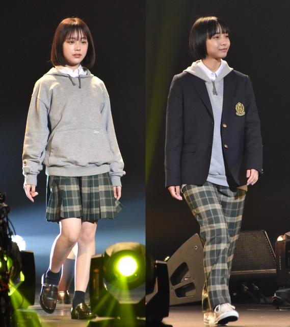 『超十代-ULTRA TEENS FES- 2021 PREMIUM』に登場した(左から)なえなの、山之内すず (C)ORICON NewS inc.の画像