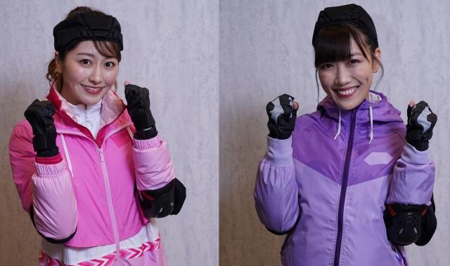 4月4日放送のフジテレビ系『逃走中』に出演する(左から)佐々木彩夏、高城れに(C)フジテレビの画像