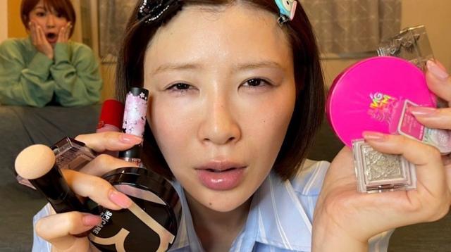 YouTubeチャンネル『矢口真里と手島優のやぐてじチャンネル』で完全すっぴんを公開した手島優の画像