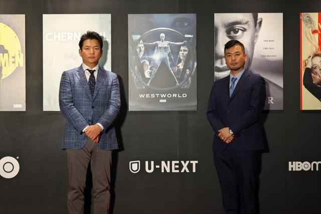 U-NEXT代表取締役社長・堤天心氏(左)、COO・本多利彦氏(右)の画像