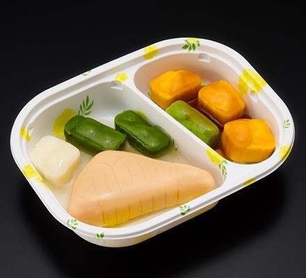 朝のムース食の例 鮭の塩焼きの画像