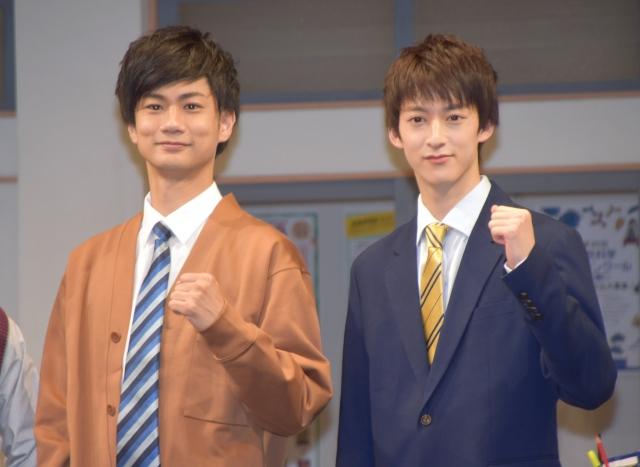 中学校の自分へメッセージを送った(左から)馬場良馬、伊藤あさひ (C)ORICON NewS inc.の画像