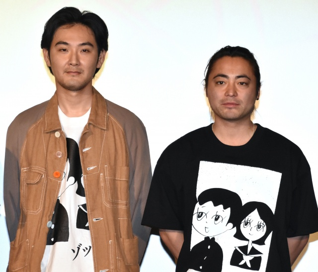 映画『ゾッキ』公開記念舞台あいさつに登壇した(左から)松田龍平、山田孝之 (C)ORICON NewS inc.の画像