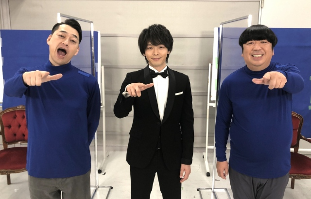 中村倫也(中央)がバナナマンへサプライズの手紙を読み上げた (C)テレビ東京の画像