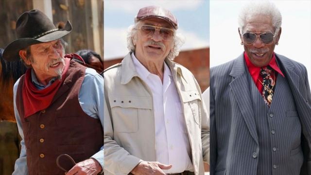 映画『カムバック・トゥ・ハリウッド!!』(6月4日公開)(左から)トミー・リー・ジョーンズ、ロバート・デ・ニーロ、モーガン・フリーマンの豪華共演 (C) 2020 The Comeback Trail, LLC All rights Reservedの画像