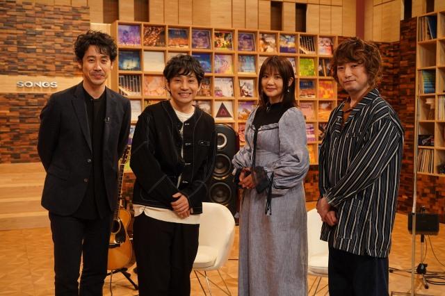 4月15日放送のNHK総合『SONGS』に出演するいきものがかり(C)NHKの画像