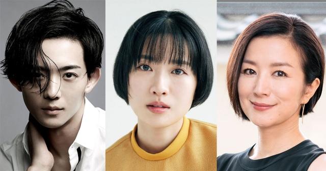 ドラマ『ライオンのおやつ』に出演する(左から)竜星涼、土村芳、鈴木京香の画像