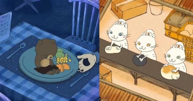 シャレと言葉遊びを巧みに取り入れた動物×食べ物GIF動画(画像提供:misato.)の画像