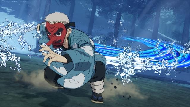 ゲーム『鬼滅の刃 ヒノカミ血風譚』バーサスモードで戦う鱗滝左近次の画像