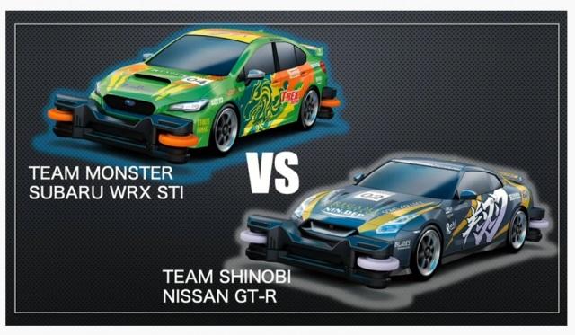 SUBARUと日産、トミカでレース対決 (C)ORICON NewS inc.の画像