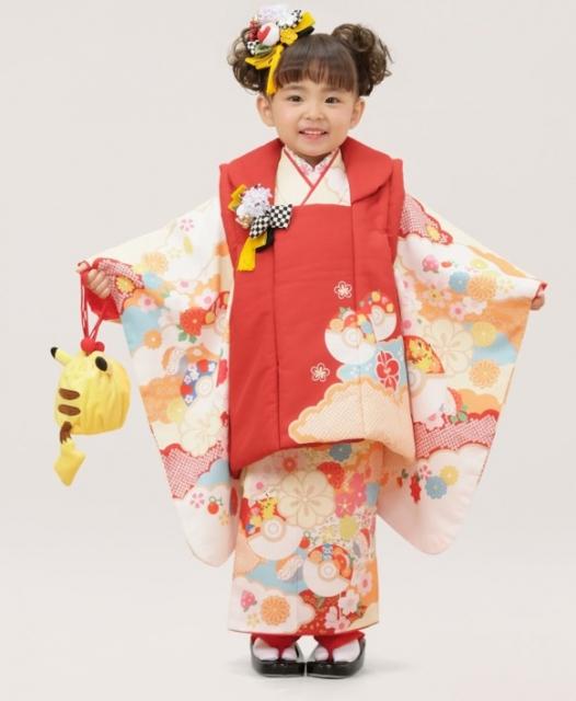 ピカチュウ(3歳女児100cm被布)の着物の画像