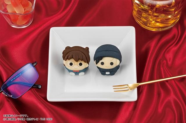 4月23日より全国のセブン-イレブンで発売になる江戸川コナンと赤井秀一をモチーフにした『食べマス 名探偵コナン2021』の画像
