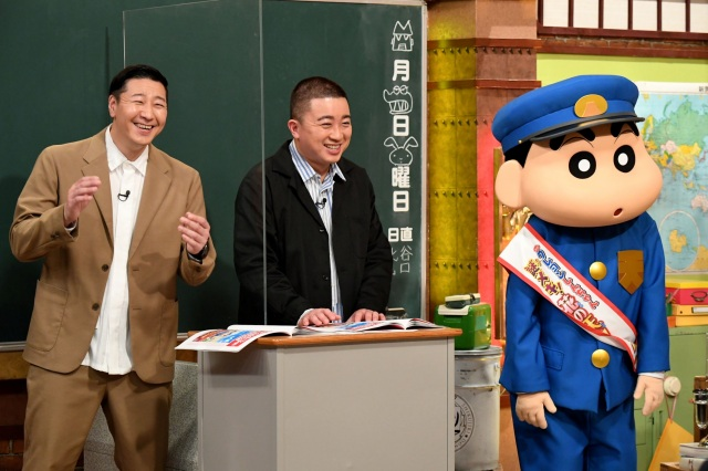 4月19日放送『しくじり先生 俺みたいになるな!!』第86回はアニメ『クレヨンしんちゃん』の知られざるしくじりをチョコレートプラネットが解説 (C)テレビ朝日の画像