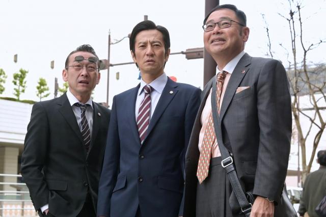 『特捜9 season4』第3話より(左から)吹越満、津田寛治、田口浩正 (C)テレビ朝日