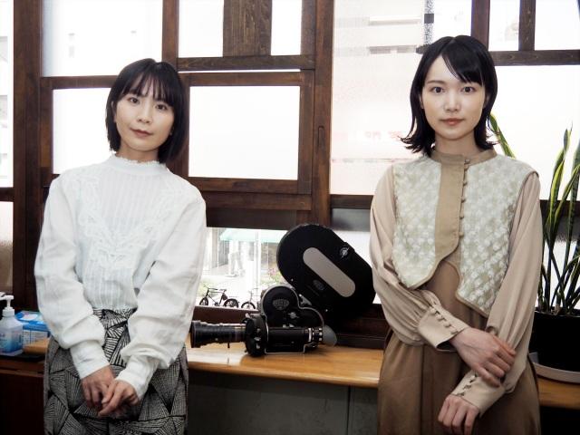 映画『海辺の金魚』(6月25日公開)主題歌を書き下ろした橋本絵莉子、小川紗良監督 (C)ORICON NewS inc.