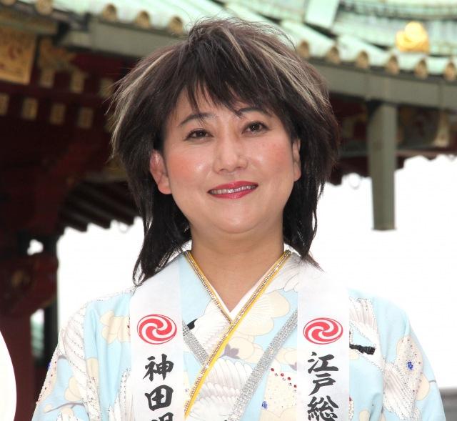 「スポニチちゃん」警戒で会見の笑いを誘った水谷千重子 (C)ORICON NewS inc.の画像