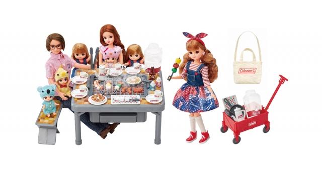 コールマン人気商品をミニチュア再現『もくもくジュージュー にぎやかバーベキュー』、着せ替えドレス『LW-10 ガーリーピクニック』の画像