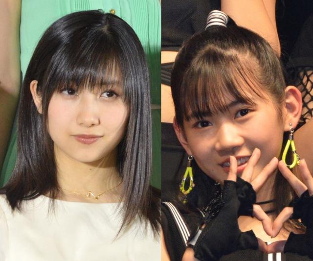 モーニング娘。'21(左から)佐藤優樹、岡村ほまれ (C)ORICON NewS inc.の画像