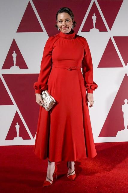 『第93回アカデミー賞』にディオールのドレスで登場したオリヴィア・コールマン。映画『ファーザー』(5月14日公開)アンソニー・ホプキンスと父娘役を演じたの画像