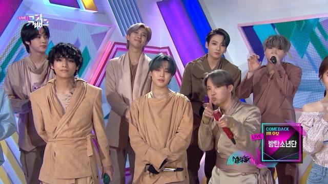 K-POP番組『ミュージックバンク』BTS出演回を「Paravi」で無料配信中(写真は#1017) Licensed by KBS Media Ltd. (C)KBS. All rights reservedの画像
