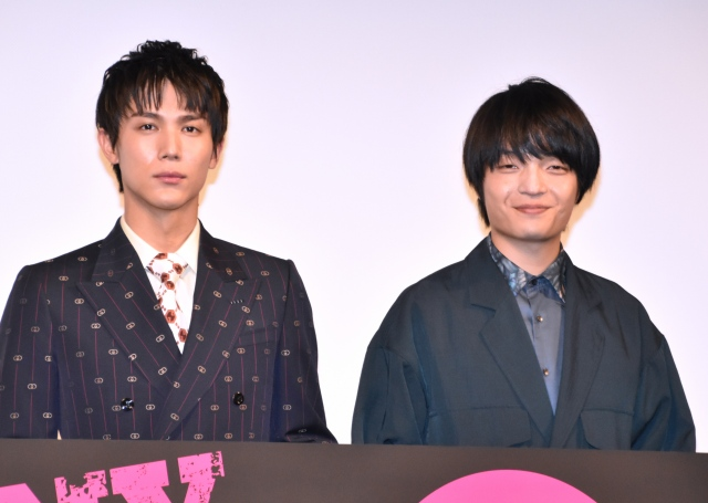 映画『FUNNY BUNNY』初日舞台あいさつに参加した(左から)中川大志、岡山天音 (C)ORICON NewS inc.の画像