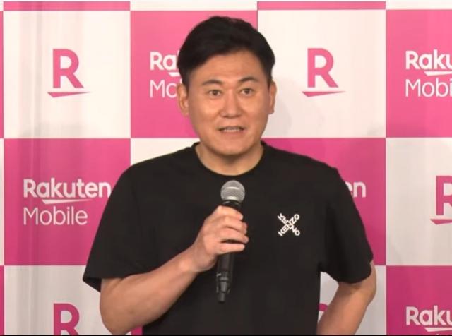 楽天モバイル、iPhone発売 =発売記念イベントに登場した三木谷浩史氏(C)ORICON NewS inc.の画像