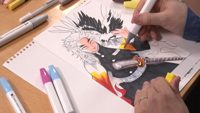 なつめさんち・げんさんが描く「煉獄杏寿郎」(C)集英社(C)なつめさんちの画像