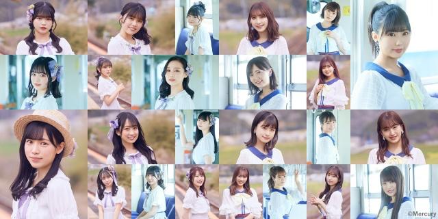 14thシングル「君とどこかへ行きたい」(12日発売)を発売するHKT48(C)Mercuryの画像