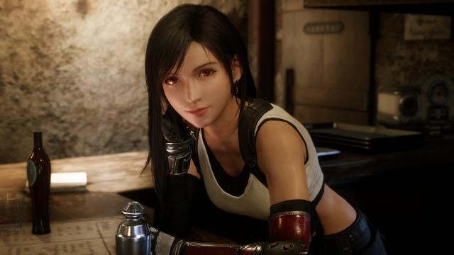 人気キャラクターのティファ=『FINAL FANTASY VII REMAKE』のゲーム画面の画像