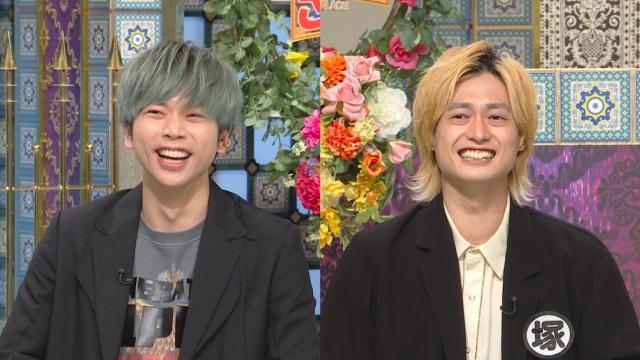 18日放送『踊る!さんま御殿!!』に出演するNEWSの増田貴久、A.B.C-Zの塚田僚一 (C)日本テレビの画像