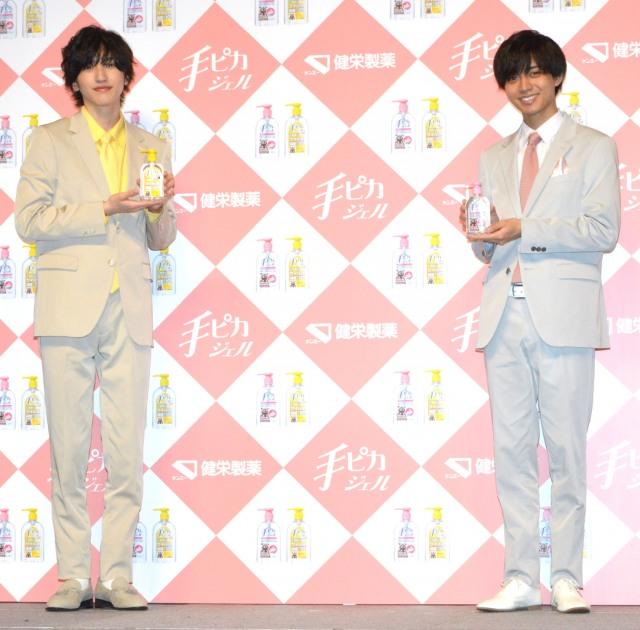 (左から)道枝駿佑、永瀬廉 (C)ORICON NewS inc.の画像