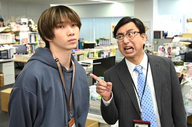 『カラフラブル~ジェンダーレス男子に愛されています。~』第8話に出演する遠藤健慎とおいでやす・小田 (C)読売テレビの画像