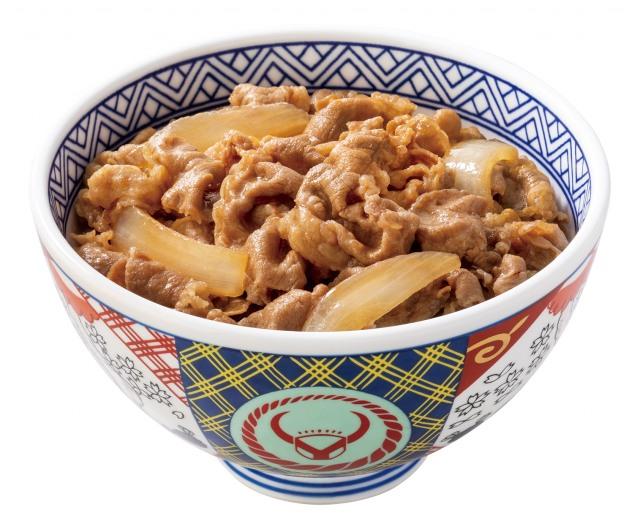 かつては高級品として提供されていた吉野家の牛丼の画像