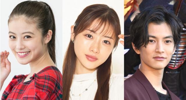 (左から)今田美桜、石原さとみ、渡邊圭祐 (C)ORICON NewS inc.の画像