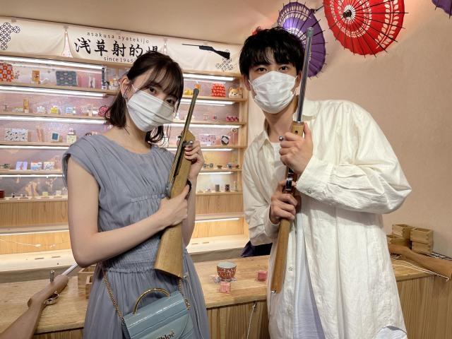 サンバリュ『チョイス君と地雷ちゃん』に出演する堀未央奈、樫尾篤紀 (C)日本テレビの画像