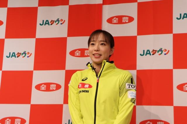 意気込みを語る石川佳純選手の画像