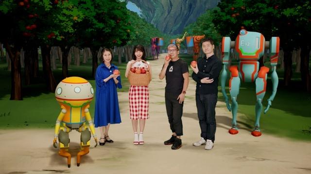 Netflix オリジナルアニメシリーズ『エデン』のスペシャルイベント(左から)A37、氷上恭子、高野麻里佳、伊藤健太郎、入江泰浩(監督)、E92(ロボット)】の画像