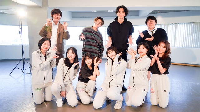 ハロプロダンス学園メンバー(前列)にs**t kingzのkazukiとNOPPOが振付(C)ダンスチャンネルの画像