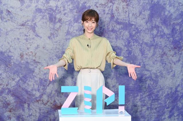 6月から『ZIP!』金曜の月替りパーソナリティーを務める明日海りお (C)日本テレビの画像