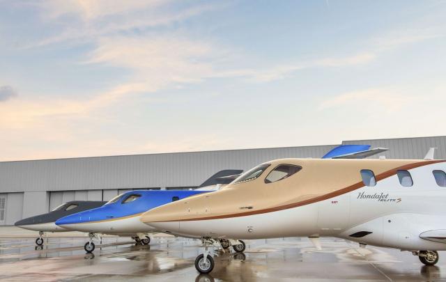 ホンダ エアクラフト カンパニーが発表した、小型ビジネスジェット機の最新型『HondaJet Elite S(エリート S)』の画像