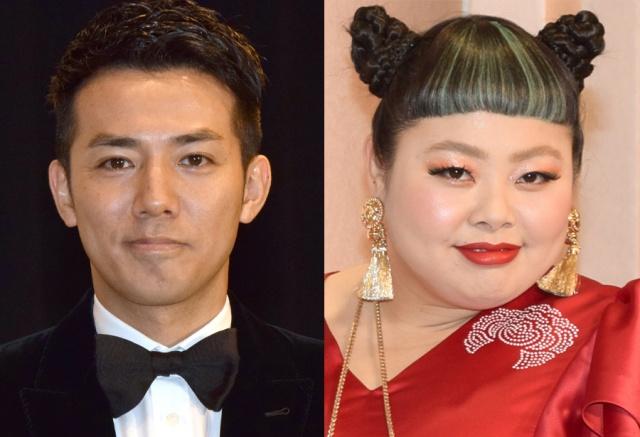 (左から)綾部祐二、渡辺直美(C)ORICON NewS inc.の画像