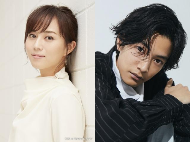 7月スタートのフジテレビ系連続ドラマ『木曜劇場 推しの王子様』に出演する(左から)比嘉愛未、渡邊圭祐の画像